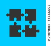puzzle icon flat. simple vector ... | Shutterstock .eps vector #556533073