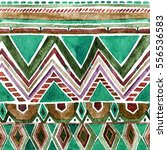 colorful watercolor geometric... | Shutterstock . vector #556536583