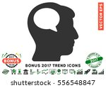 green and gray person thinking... | Shutterstock .eps vector #556548847