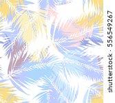 Tropical Palm Seamless Vector...