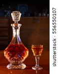 Crystal Decanter And Glass Ful...