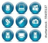 blue glass ball 16 | Shutterstock .eps vector #55655137
