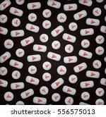 vector cartoon seamless pattern ... | Shutterstock .eps vector #556575013