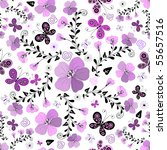 seamless floral white pattern... | Shutterstock . vector #55657516