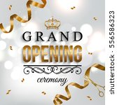 grand opening card design with... | Shutterstock .eps vector #556586323