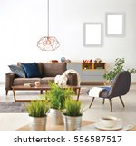 modern living room sofa and... | Shutterstock . vector #556587517