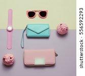 ladies fashion accessories.... | Shutterstock . vector #556592293