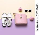 ladies fashion accessories.... | Shutterstock . vector #556592413
