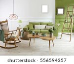 natural wood furniture green... | Shutterstock . vector #556594357