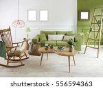 natural wood furniture green... | Shutterstock . vector #556594363
