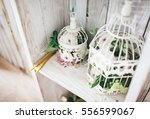 the wedding decoration in... | Shutterstock . vector #556599067