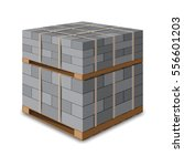 cinder block. big and small... | Shutterstock .eps vector #556601203