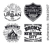 t shirt print design. set of... | Shutterstock .eps vector #556610437