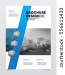 business brochure design.... | Shutterstock .eps vector #556611433