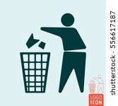 keep clean icon. no littering   ... | Shutterstock .eps vector #556617187