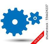 gears flat icon. gears logo.... | Shutterstock .eps vector #556624237
