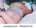 doctor holding phonendoscope... | Shutterstock . vector #556631113
