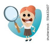 funny businesswoman with... | Shutterstock .eps vector #556632607