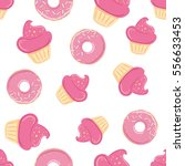 seamless pattern with sweets  ... | Shutterstock .eps vector #556633453