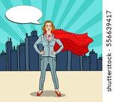 pop art confident business... | Shutterstock .eps vector #556639417
