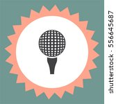 golf vector icon. ball sign.... | Shutterstock .eps vector #556645687