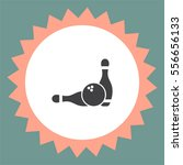 bowling pin vector icon.... | Shutterstock .eps vector #556656133