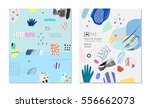 collection of trendy creative... | Shutterstock .eps vector #556662073