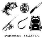fishing set of bass  jacket ...   Shutterstock .eps vector #556664473