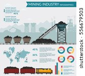 coal mining industry and... | Shutterstock .eps vector #556679503