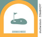 golf vector icon. pot with a... | Shutterstock .eps vector #556684297