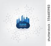 cloud computing design concept  ...   Shutterstock .eps vector #556685983