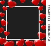 red hearts on black background. ... | Shutterstock .eps vector #556689883