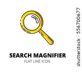 search magnifier. colored flat...