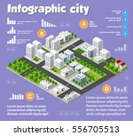 isometric city map industry... | Shutterstock .eps vector #556705513