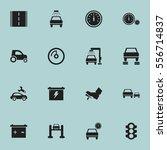 set of 16 editable traffic... | Shutterstock .eps vector #556714837