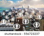 connection concept by people... | Shutterstock . vector #556723237