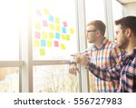 web designer working on the... | Shutterstock . vector #556727983
