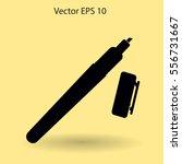 marker vector icon | Shutterstock .eps vector #556731667