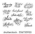 set of black and white hand... | Shutterstock .eps vector #556735933