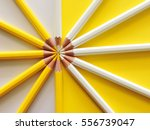 top view of yellow and white... | Shutterstock . vector #556739047