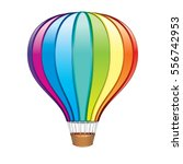 hot air balloon. isolated vector | Shutterstock .eps vector #556742953
