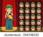 greek gods demeter costume... | Shutterstock .eps vector #556748233