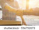 great job sealing a deal... | Shutterstock . vector #556752073