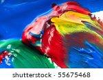 mixing paints. backrgound | Shutterstock . vector #55675468