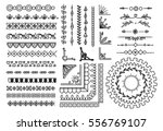 set of border  brush  frame ... | Shutterstock .eps vector #556769107