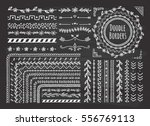 set of border  brush  frame ... | Shutterstock .eps vector #556769113