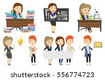 angry student studying with...   Shutterstock .eps vector #556774723