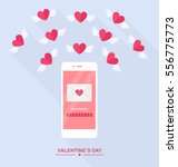 valentine's day illustration.... | Shutterstock .eps vector #556775773