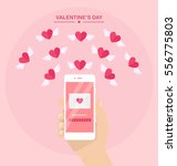 valentine's day illustration.... | Shutterstock .eps vector #556775803