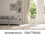white room with sofa and green... | Shutterstock . vector #556778563